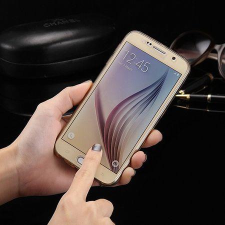 Crystal Case Hülle für Samsung Galaxy S6 Edge Gold Rahmen Full Body – Bild 8