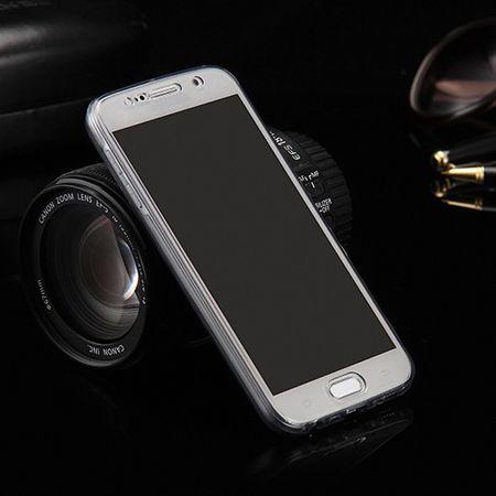 Crystal Case Hülle für Huawei P8 Lite Grau Rahmen Full Body