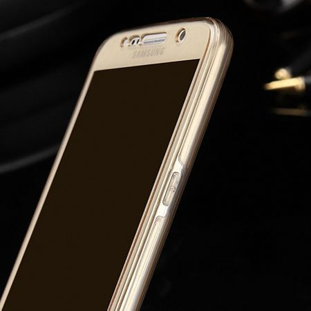 Crystal Case Hülle für Sony Xperia M5 Gold Rahmen Full Body – Bild 3