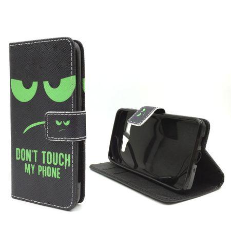 Handyhülle Tasche für Handy Samsung Galaxy A3 2015 Dont Touch Grün