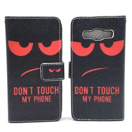 Handyhülle Tasche für Handy Samsung Galaxy A3 2015 Dont Touch Rot