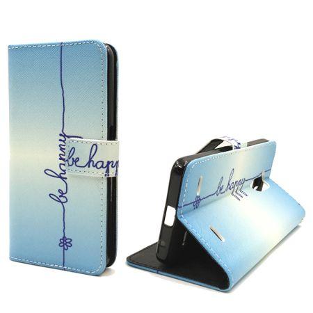 Handyhülle Tasche für Handy ZTE Blade V7 Lite Be Happy Blau