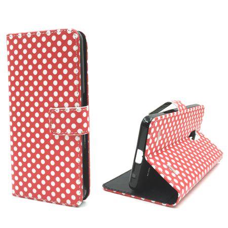 Handyhülle Tasche für Handy ZTE Blade V7 Lite Polka Dot Rot