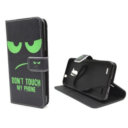 Handyhülle Tasche für Handy ZTE Blade V7 Lite Dont Touch My Phone Grün – Bild 2