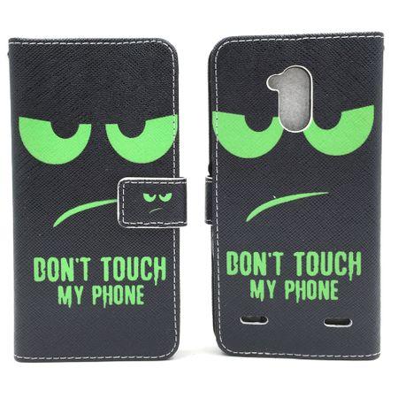 Handyhülle Tasche für Handy ZTE Blade V7 Lite Dont Touch My Phone Grün – Bild 6
