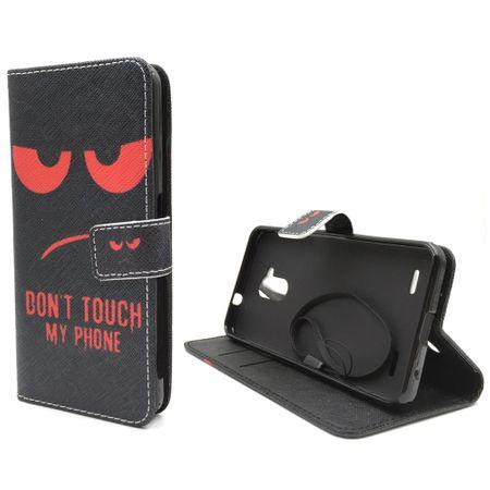 Handyhülle Tasche für Handy ZTE Blade V7 Lite Dont Touch My Phone Rot – Bild 2