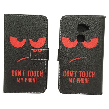 Dont Touch My Phone Handyhülle Huawei Mate S Klapphülle Wallet Case – Bild 1