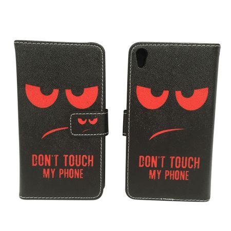 Handyhülle Tasche für Handy Sony Xperia XA Dont Touch My Phone Rot – Bild 6