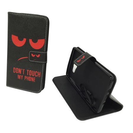 Handyhülle Tasche für Handy Samsung Galaxy J7 2016 Dont Touch My Phone Rot