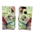 Handyhülle Tasche für Handy Huawei Honor 8 Schriftzug Marshmallows 001