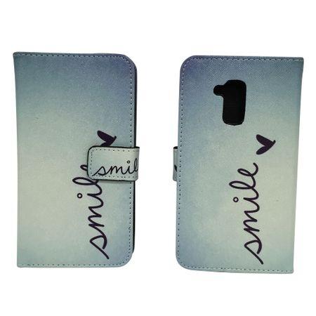 Handyhülle Tasche für Handy Huawei Honor 5c Schriftzug Smile Blau – Bild 1