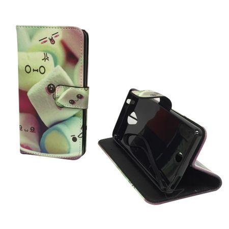 Handyhülle Tasche für Handy Wiko U Feel Schriftzug Marshmallows – Bild 5