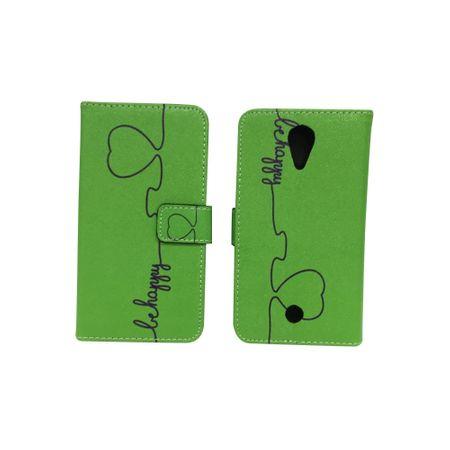 Handyhülle Tasche für Handy Wiko U Feel Be Happy Grün