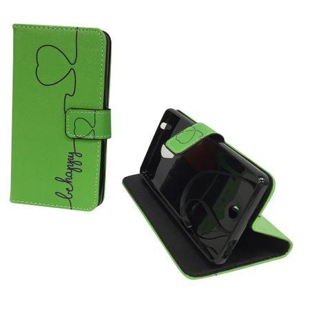 Handyhülle Tasche für Handy Wiko U Feel Be Happy Grün – Bild 3