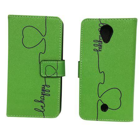 Handyhülle Tasche für Handy Wiko Tommy Be Happy Grün – Bild 2