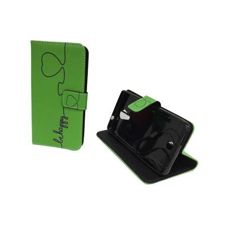 Handyhülle Tasche für Handy Wiko Tommy Be Happy Grün – Bild 3