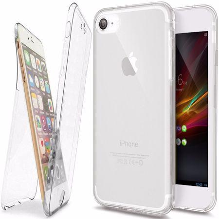 Crystal Case Hülle für Apple iPhone 7 Transparent Full Body