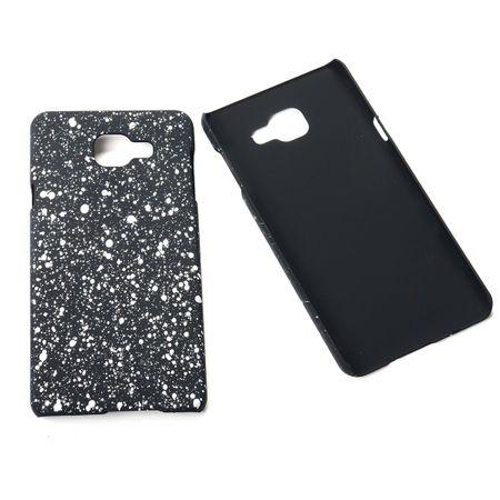Handy Hülle Schutz Case Bumper Schale für Samsung Galaxy A7 2016 3D Sterne Weiß
