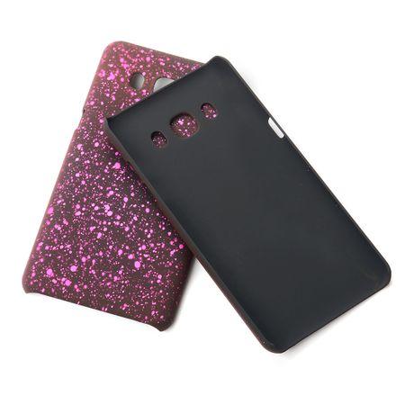 Handy Hülle Schutz Case Bumper Schale für Samsung Galaxy J7 2016 3D Sterne Pink