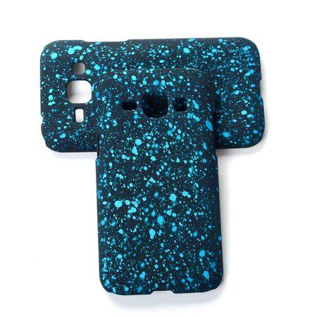 Handy Hülle Schutz Case Bumper Schale für Samsung Galaxy J1 2015 3D Sterne Türkis – Bild 2