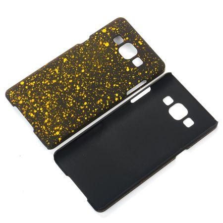 Handy Hülle Schutz Case Bumper Schale für Samsung Galaxy A5 2015 3D Sterne Gelb