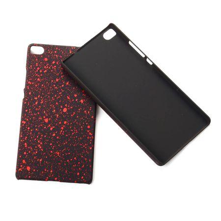 Handy Hülle Schutz Case Bumper Schale für Huawei P8 3D Sterne Rot