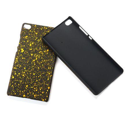 Handy Hülle Schutz Case Bumper Schale für Huawei P8 3D Sterne Gelb