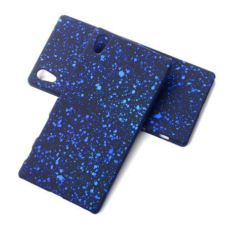 Handy Hülle Schutz Case Bumper Schale für Sony Xperia Z5 3D Sterne Blau – Bild 1