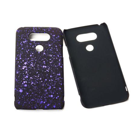 Handy Hülle Schutz Case Bumper Schale für LG G5 3D Sterne Lila