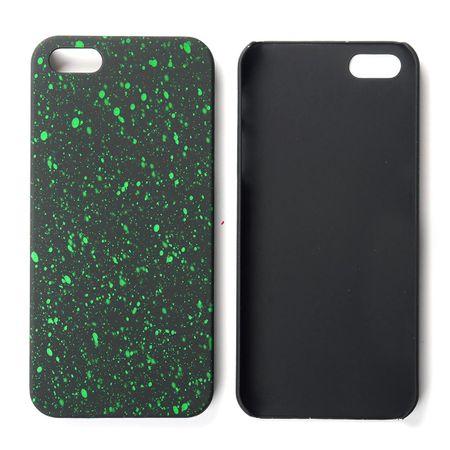 Handy Hülle Schutz Case Bumper Schale für Apple iPhone 5 5s SE 3D Sterne Grün