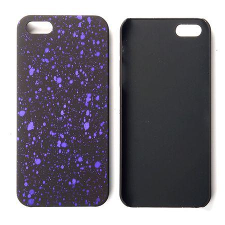 Handy Hülle Schutz Case Bumper Schale für Apple iPhone 5 5s SE 3D Sterne Lila