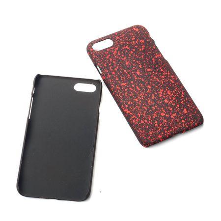 Handy Hülle Schutz Case Bumper Schale für Apple iPhone 7 3D Sterne Rot
