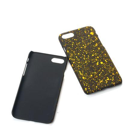 Handy Hülle Schutz Case Bumper Schale für Apple iPhone 7 3D Sterne Gelb