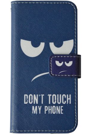 Don't Touch My Phone Handyhülle Apple iPhone 7 iPhone 8 Smiley Blau