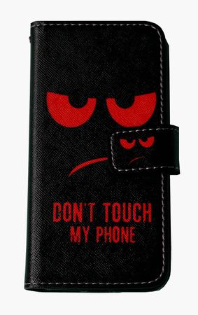 Don't Touch My Phone Handyhülle Apple iPhone 7 iPhone 8 Smiley Schwarz Rot