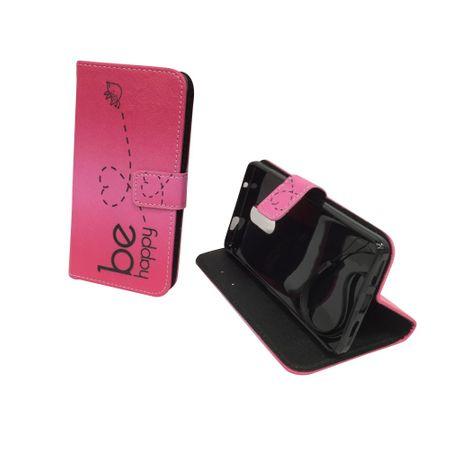 Handyhülle Tasche für Handy Xiaomi Redmi Pro Be Happy Pink