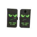 Handyhülle Tasche für Handy OnePlus 3 / Three Dont Touch My Phone Grün 001