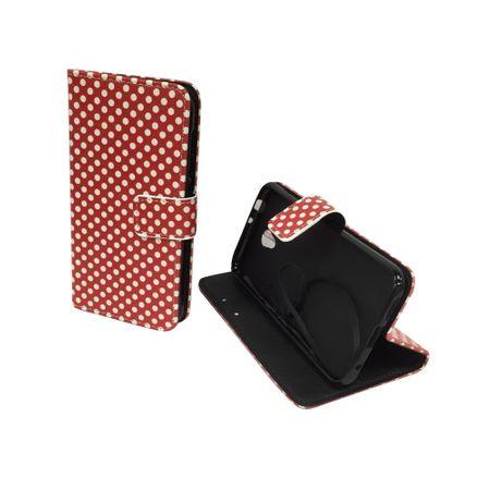 Handyhülle Tasche für Handy Vodafone Smart Prime 7 Polka Dot Rot – Bild 3
