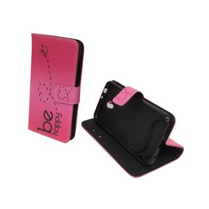 Handyhülle Tasche für Handy Vodafone Smart Prime 7 Be Happy Pink