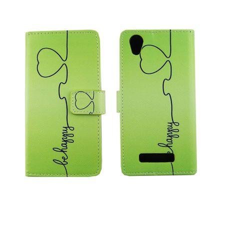 Handyhülle Tasche für Handy ZTE Blade A452 Be Happy Grün – Bild 6