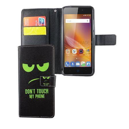 Handyhülle Tasche für Handy ZTE Blade A452 Dont Touch My Phone Grün