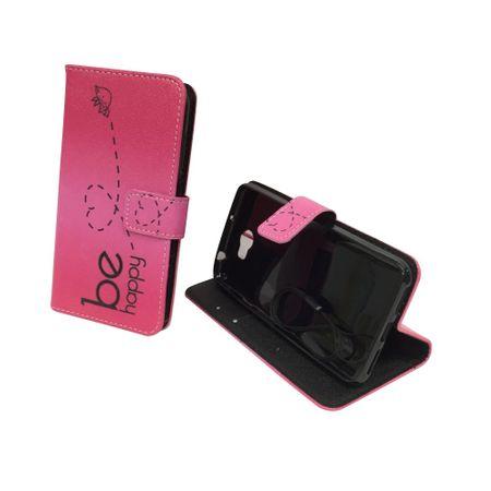 Handyhülle Tasche für Handy Huawei Y5 II / 2 Be Happy Pink – Bild 3