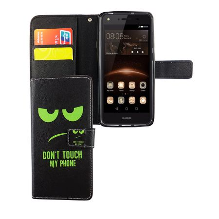 Dont Touch My Phone Handyhülle Huawei Y5 II Klapphülle Wallet Case