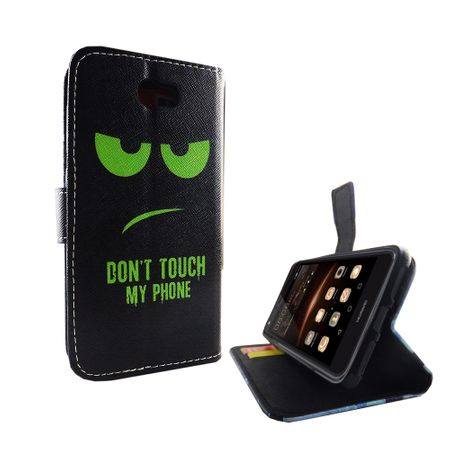 Dont Touch My Phone Handyhülle Huawei Y5 II Klapphülle Wallet Case – Bild 6