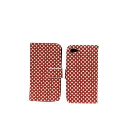 Handyhülle Tasche für Handy Lenovo ZUK Z2 Polka Dot Rot – Bild 2