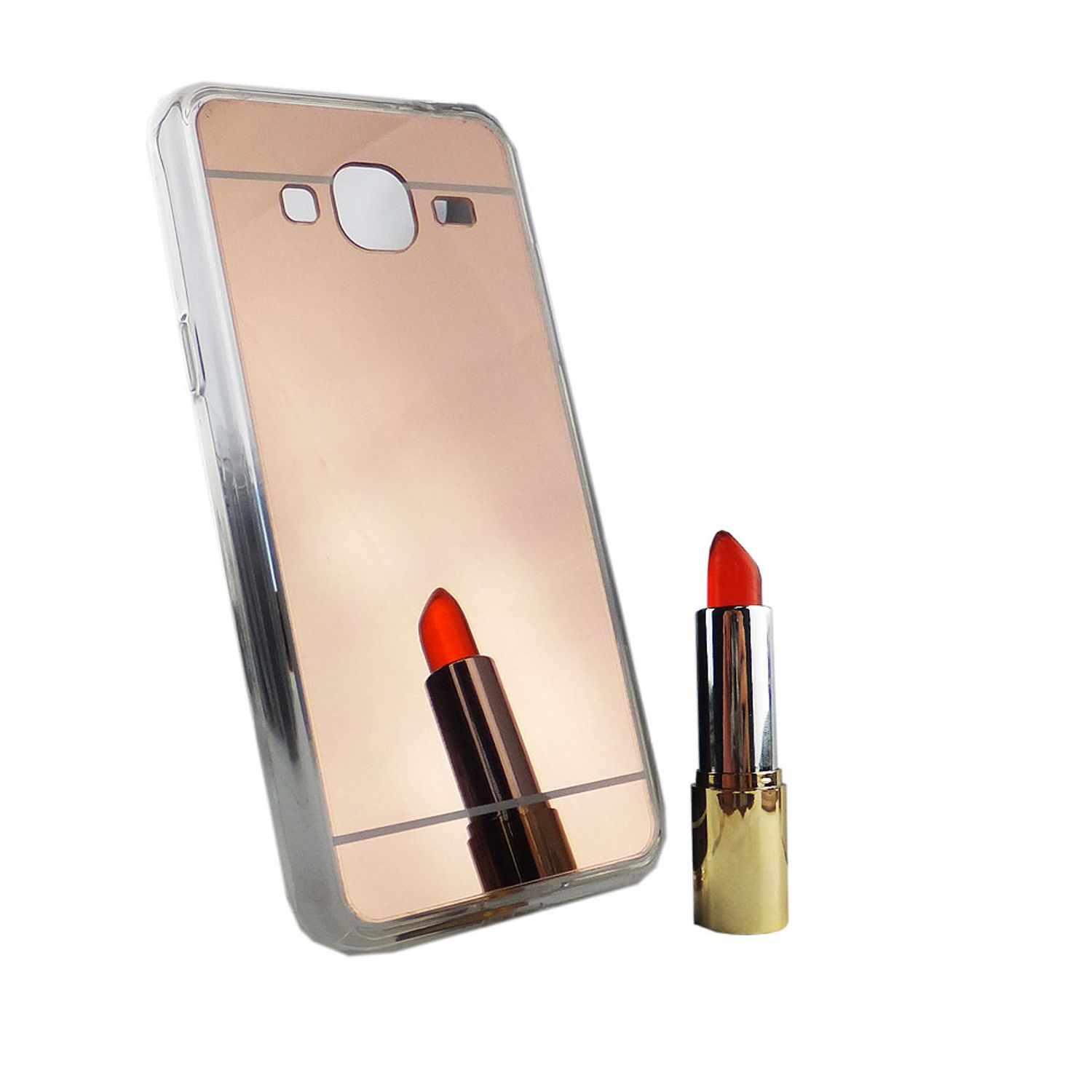 handy h lle spiegel mirror soft case schutz h lle cover f r samsung galaxy j3 rose gold. Black Bedroom Furniture Sets. Home Design Ideas