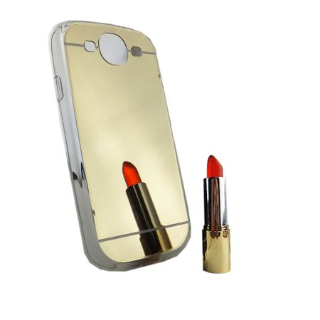 Samsung Galaxy S3 / S3 NEO Handy-Hülle Spiegel Mirror Soft-Case Schutz-Cover Gold