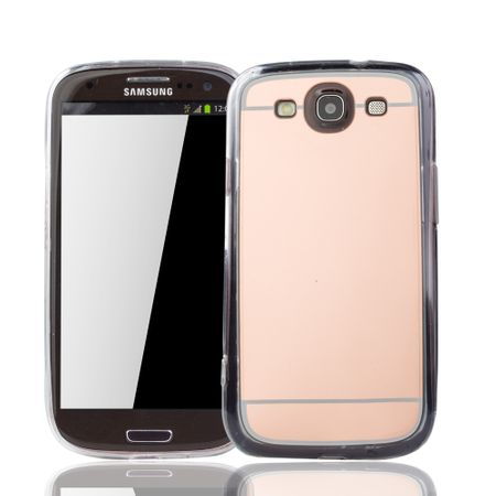 Samsung Galaxy S3 / S3 NEO Handy-Hülle Spiegel Mirror Soft-Case Schutz-Cover Rose Gold