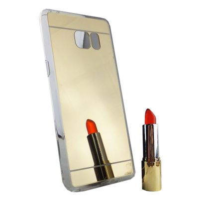 Samsung Galaxy Note 7 Handy-Hülle Spiegel Mirror Soft-Case Schutz-Cover Gold