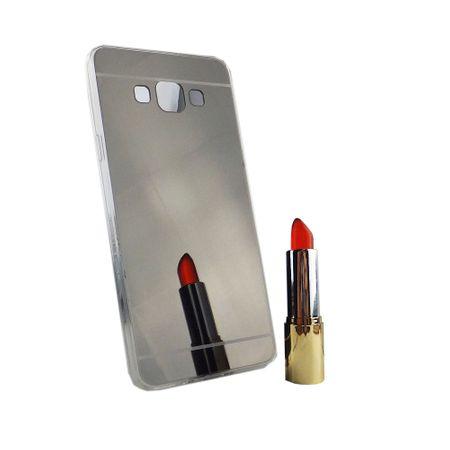 Samsung Galaxy A7 2015 Handy-Hülle Spiegel Mirror Soft-Case Schutz-Cover Schwarz